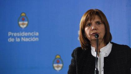 Patricia Bullrich habla durante una conferencia de prensa (Foto: Franco Fafasuli)