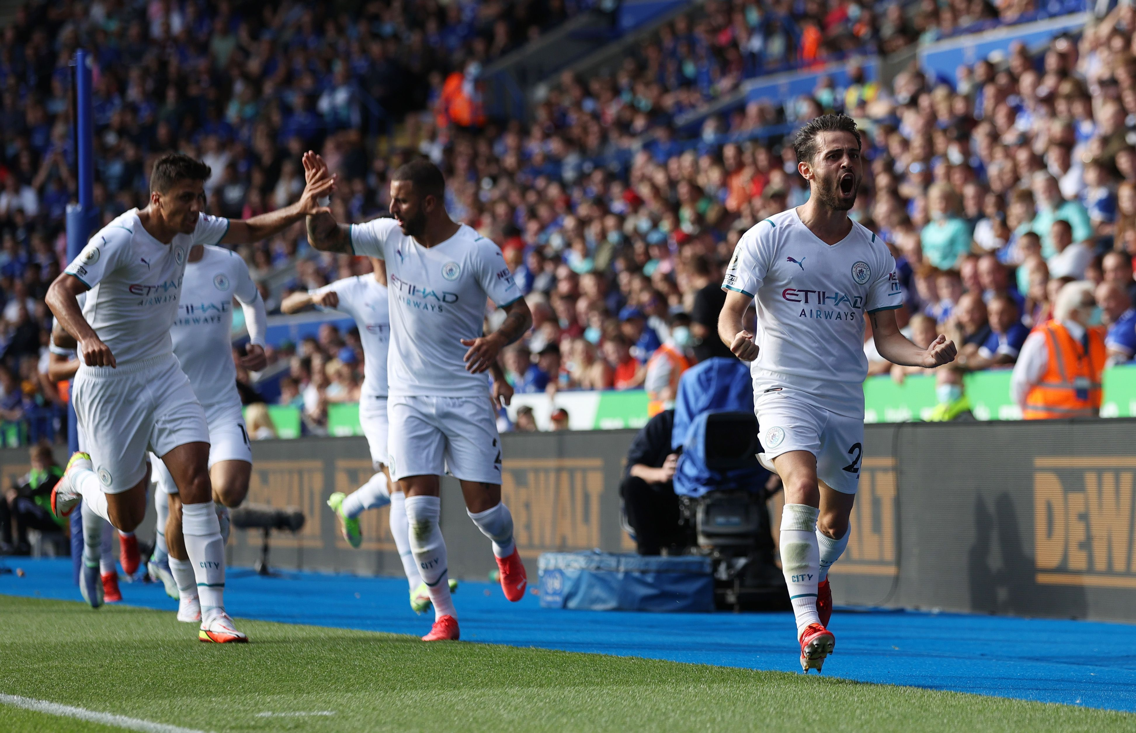 El Manchester City de Pep Guardiola debuta en la Champions League frente al RB Leipzig (Foto: Reuters)