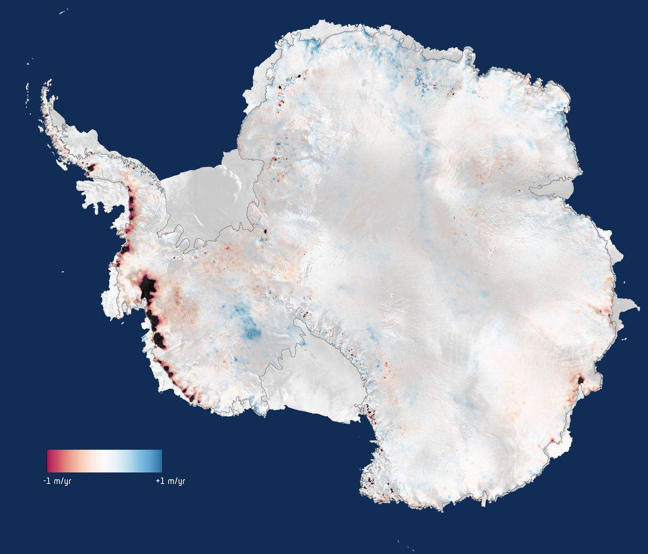 La pérdida de los hielos en la Antártida, potenciada por el calentamiento global (ESA)
