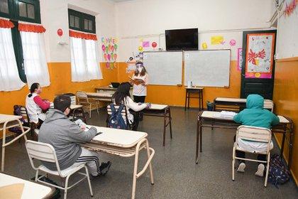 Clases presenciales el año pasado en La Pampa Foto NA: APN LA PAMPA