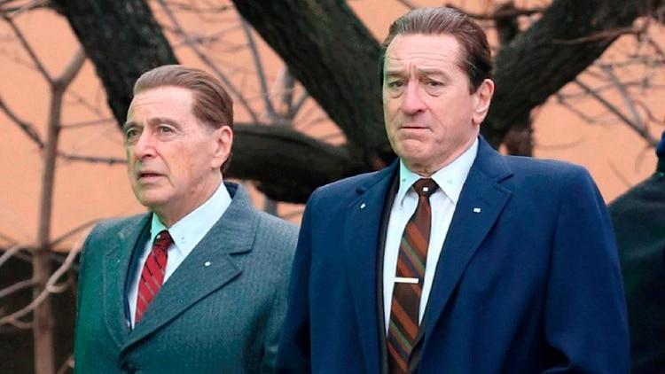 Al Pacino como Jimmy Hoffa y Robert De Niro como