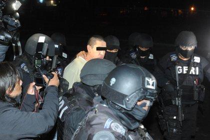 Oscar Andrés fue detenido a la salida del Reclusorio Norte  (Foto: Luis Carbayo/Cuartoscuro)