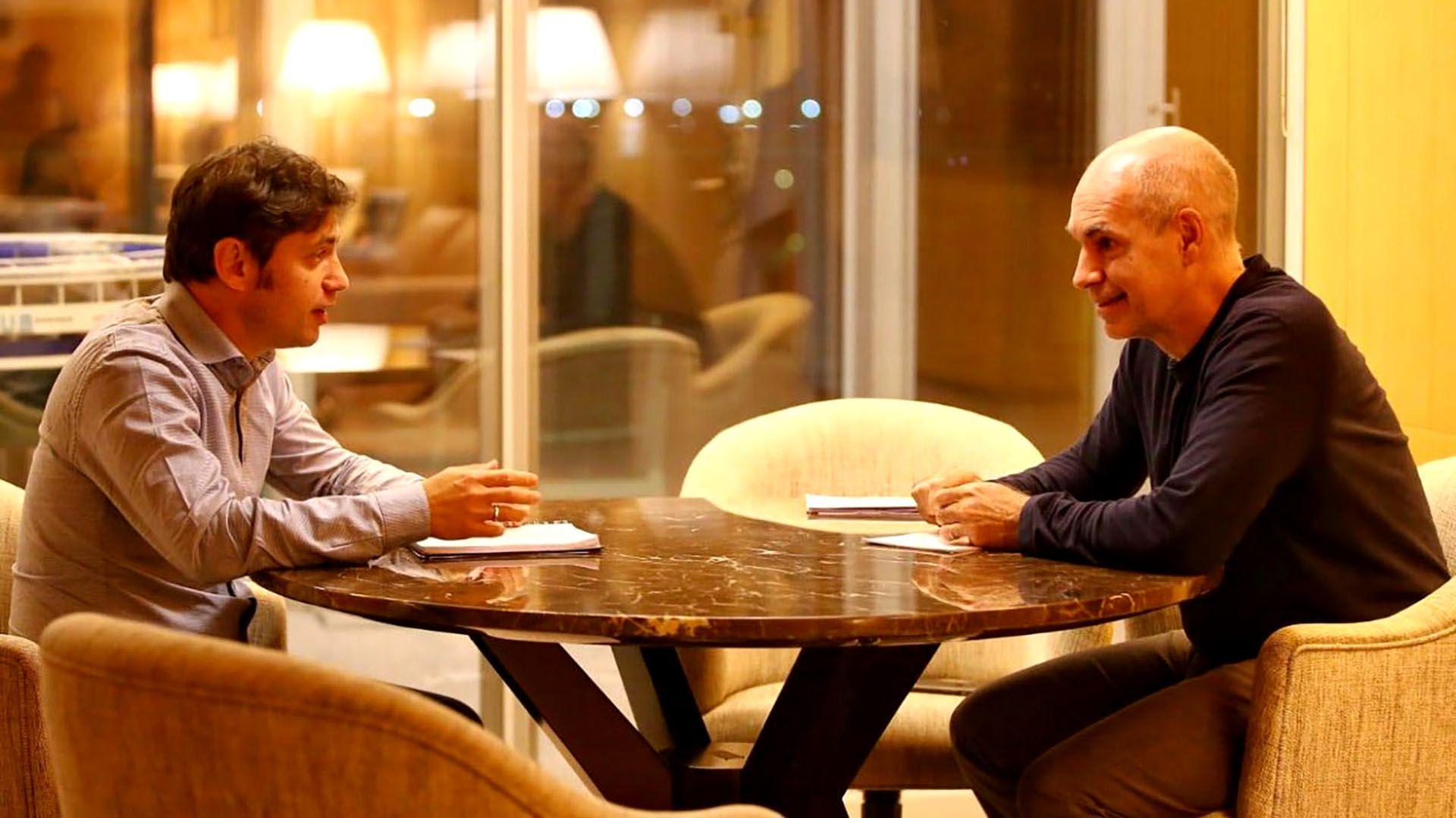 Axel Kicillof y a Horacio Rodríguez Larreta