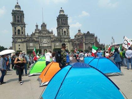 La manifestación en oposición a López Obrador ya se encuentra en el Zócalo capitalino.