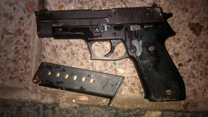 El arma secuestrada por la Policía.
