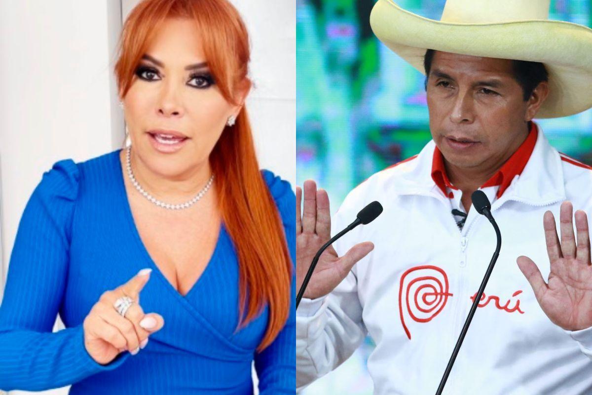 Magaly Medina invoca a Pedro Castillo para que ayuda a pobladores de San Juan de Lurigancho. (Foto: Instagram/ Andina)