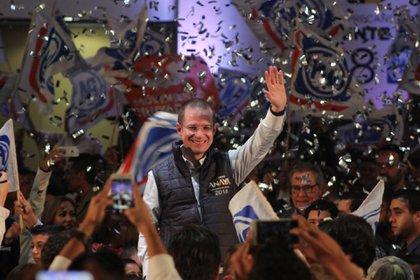 Miguel Ángel Mancera fue sancionado por la promoción durante el periodo de campaña electoral a favor de Ricardo Anaya (Foto: Gustavo Becerra/Cuartoscuro)