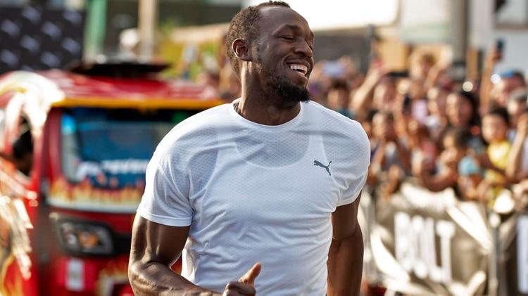 Usain Bolt realiza una serie de compromisos comerciales en Sudamérica(AFP)