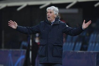 Gian Piero Gasperini podría perderse la final de la Copa Italia ante la Juventus (Reuters)