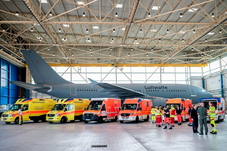 Una foto del exterior del A310 (Foto: EFE/EPA/KEVIN SCHREIB/Twitter @Team_Luftwaffe)