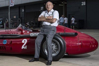 Moss y Maserati, una postal histórica del hombre que fue cuatro veces subcampeón del mundo.