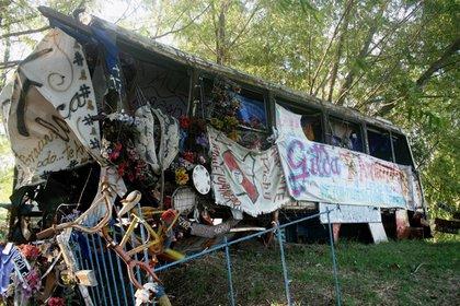 Con los años, se armó un santuario en honor a Gilda al costado de la ruta 12