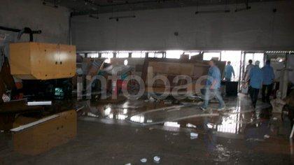 El interior del sindicato quedó destruido luego del intento de copamiento