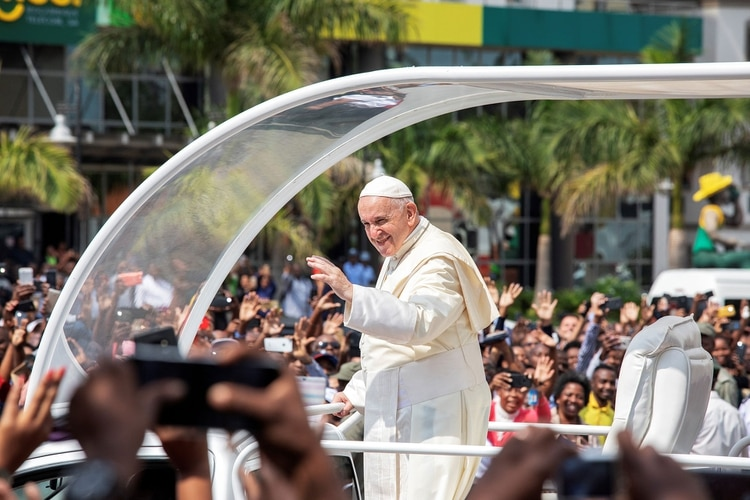 El papa Francisco en Mozambique (AFP)