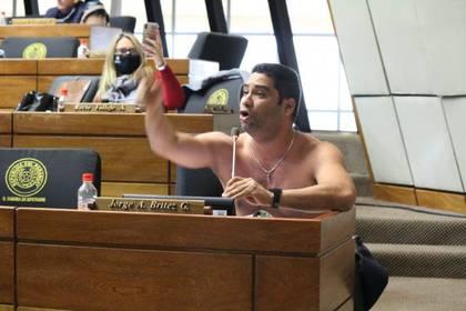 El diputado  Jorge Brítez. Foto: @ruthbenitezdiaz