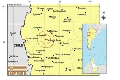 El punto donde se produjo el episodio sísmico