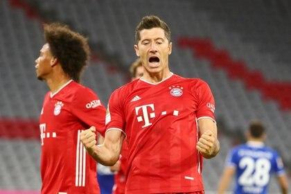 Lewandowski fue protagonista de la jugada del partido en la victoria del Bayern Múnich por 8-0 (REUTERS)