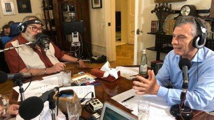Macri en la casa de Jorge Lanata (foto: @radiomitre)