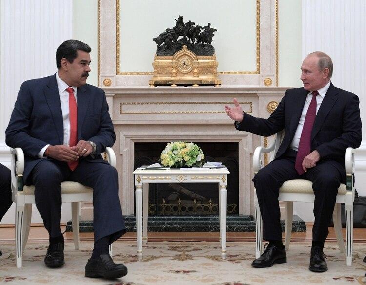 Vladimir Putin recibe a Nicolás Maduro en el Kremlin (Reuters)