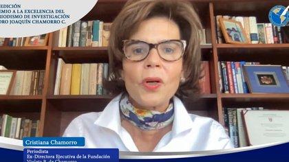 Cristiana Chamorro, ex directora ejecutiva de Fundación Violeta Chamorro (SIP)