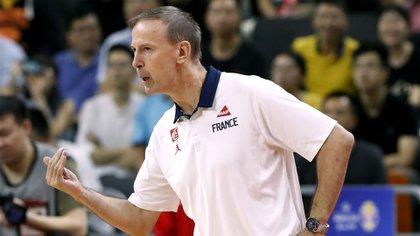 Vincent Collet, el entrenador de Francia que llevó al equipo a las semifinales del Mundial China 2019 (REUTERS/Kim Kyung-Hoon)