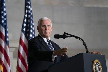 En la imagen el vicepresidente de Estados Unidos, Mike Pence.  EFE / Alex Edelman / Archivo