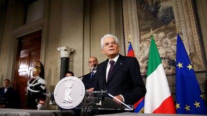 El presidente italianoSergio Mattarella (REUTERS/Alessandro Bianchi)