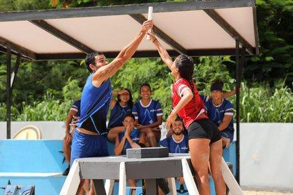 El primero de los retos puso a pruebas los reflejos de los atletas mexicanos (Foto: Twitter/@ExatlónMX)