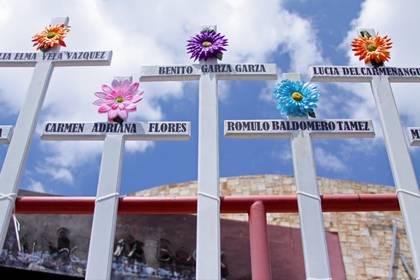 Homenaje a un año de la masacre en el Casino Royale (Foto: Cuartoscuro)