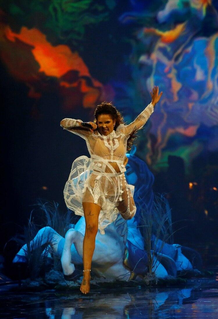 La actuación de Halsey en los MTV Europe Music Awards en Sevilla REUTERS/Marcelo del Pozo