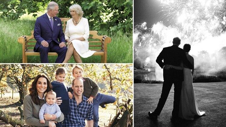 f012843664 Navidad real  las fotos familiares de los duques de Cambridge y de Sussex  para estas fiestas