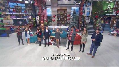 El cuadro completo de presentadores se emitió esta mañana (Foto: Captura de pantalla)