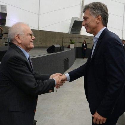 Conrado Varotto y el presidente Mauricio Macri en 2016