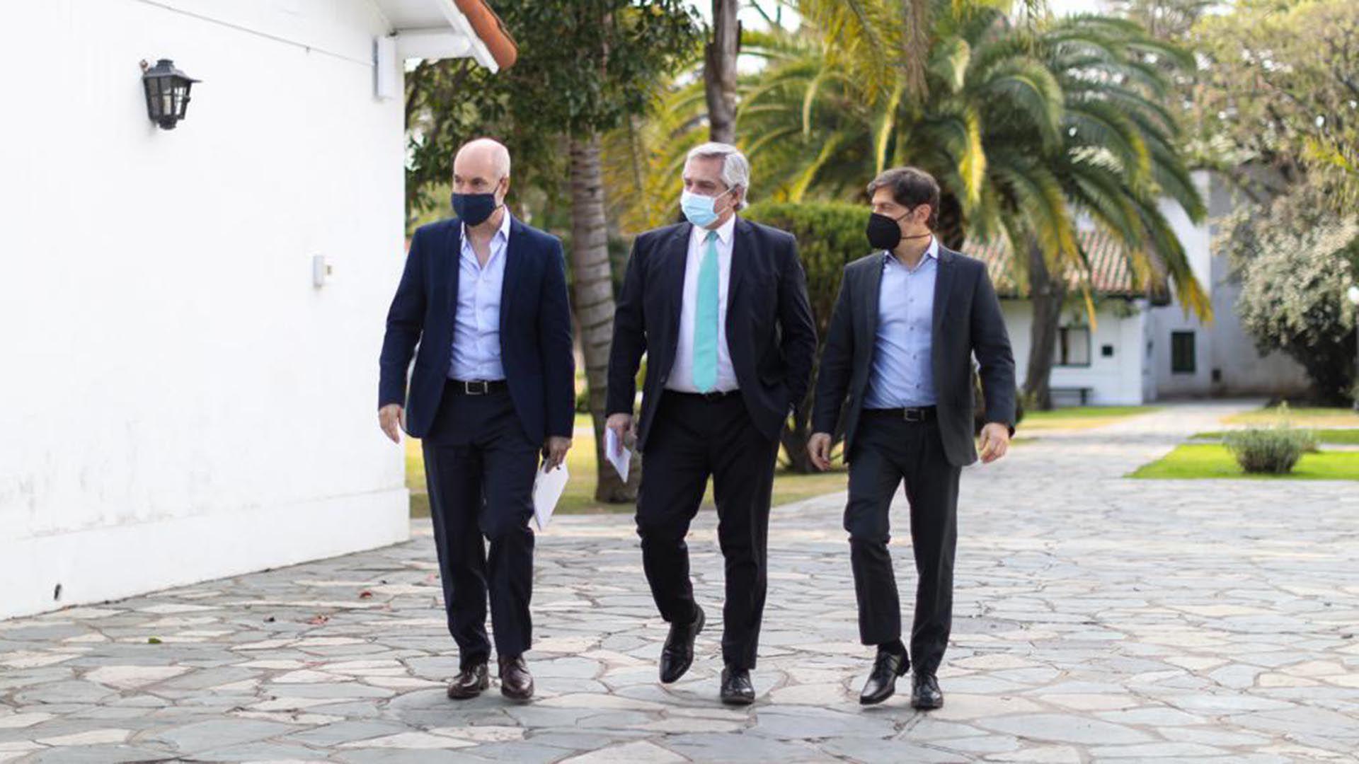 Alberto Fernandez Horacio Rodriguez Larreta Axel Kicillof