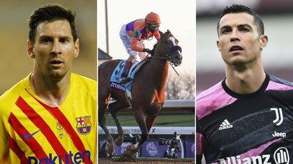 Sorpresa mundial: un caballo ganó 20 veces más dinero que Messi y Cristiano en 2020