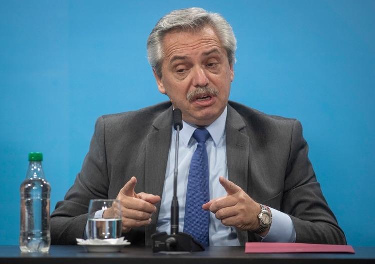 El presidente Alberto Fernández (NA)