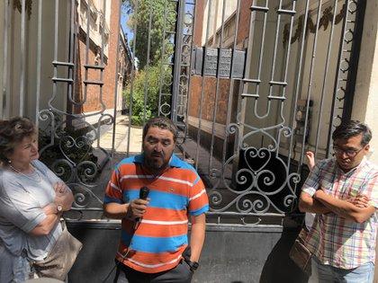 Sergio, residente de edificio La Mascota (Foto: Diana Zavala/Infobae)