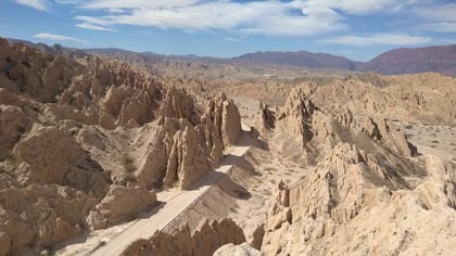 La Quebrada de las Flechas, perteneciente al Monumento Natural Provincial de Angastaco