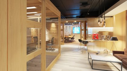 Espacios de locales comerciales transformados en salas de reuniones (Prensa Sheraton)