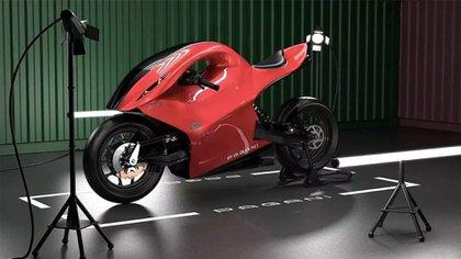 Construida en fibra de carbono, suma diferentes aleaciones de titanio para ofrecer rigidez y un peso muy bajo.