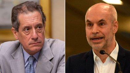 El titular del Banco Central, Miguel Pesce, y el jefe de Gobierno porteño, Horacio Rodriguez Larreta