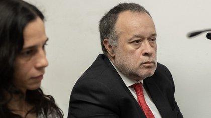 Telleldín en una de las audiencias del juicio (Adrián Escandar)