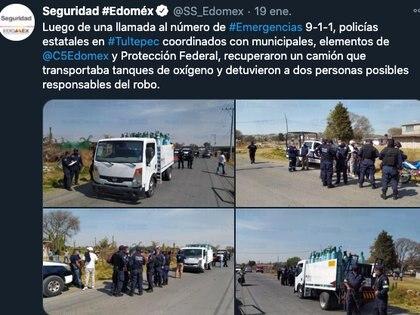 Foto: (Secretaría de Seguridad Edomex)