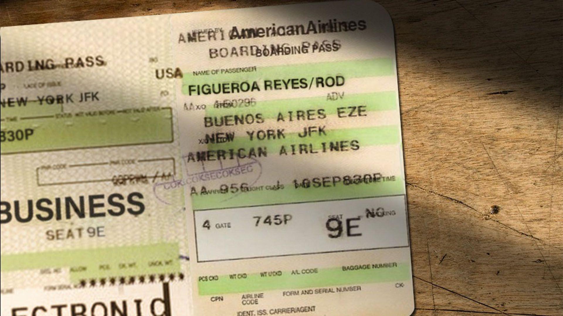 El ticket del viaje