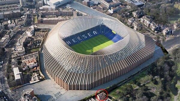 La casa de la familia que presiona para modificar el boceto del nuevo estadio del Chelsea