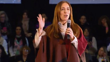 María Eugenia Vidal, en el acto de mujeres en San Fernando