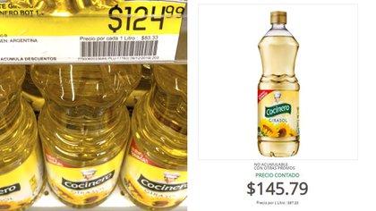 Antes y después: el aumento que registró el aceite marca Cocinero