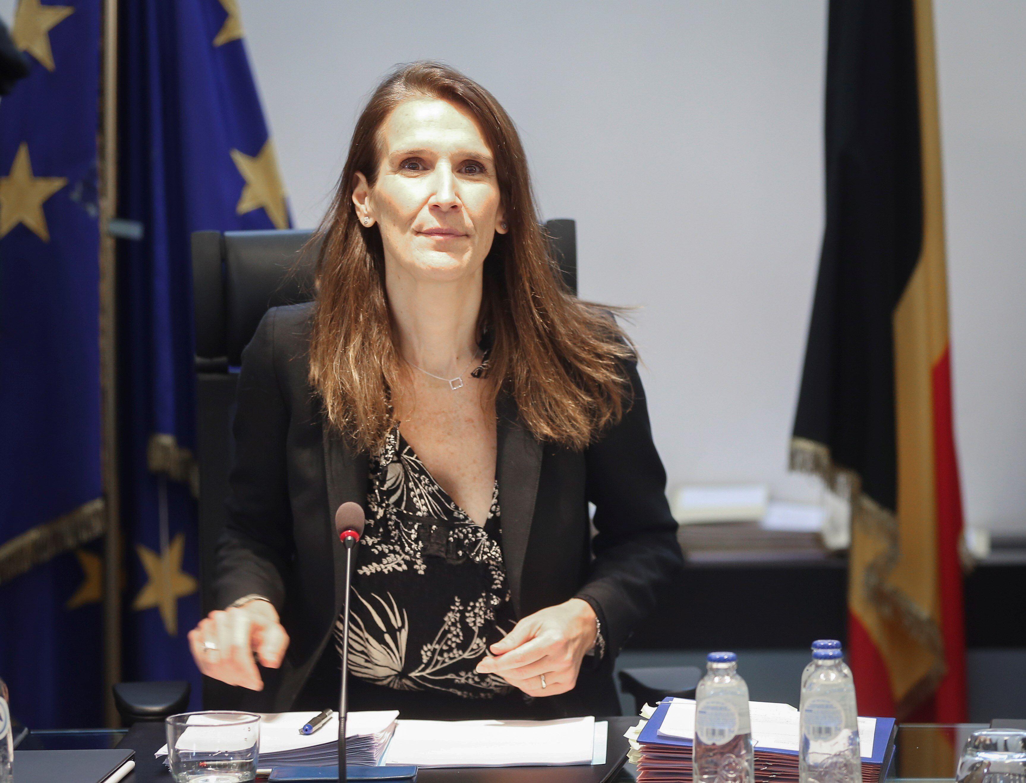 La primer ministro belga Sophie Wilmes. EFE/EPA/OLIVIER HOSLET/Archivo