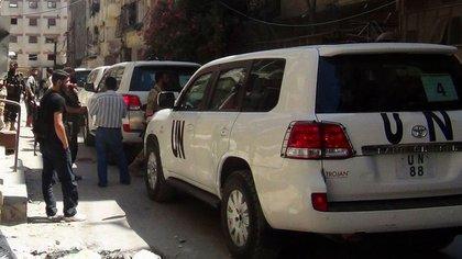 La misión de la ONU recorre Siria Reuters 163