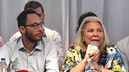Elisa Carrió junto a Maximiliano Ferraro, presidente de la Coalición Cívica